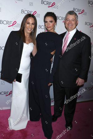 Stock Image of Jane Hertzmark, Victoria Beckham and William P. Lauder