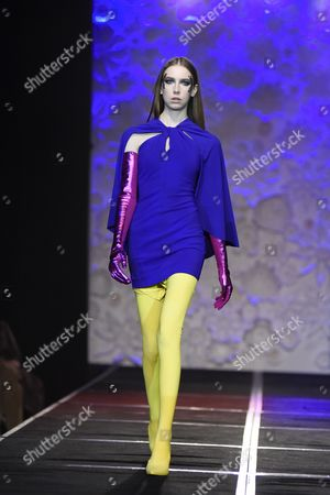 Stock Picture of Model on the catwalk showcasing Greta Constantine's Fall 2017 collection