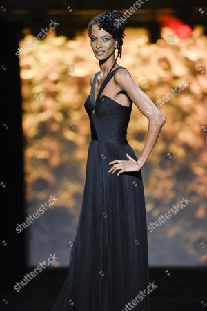 A creation of DSQUARED2 modelled by Yasmine Warsame