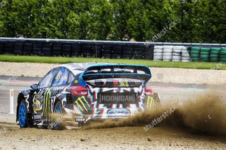 Ken Block, Hoonigan Racing Division finished the first day fifth quickest overall during WRX 2017 Round Four Qualifying at Circuit Jules Tacheny on 13th May 2017