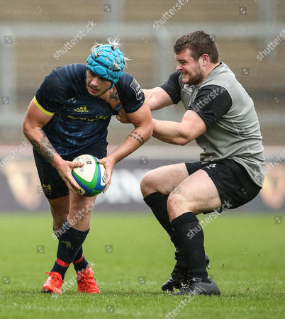 Stock Picture of Munster Rugby Development vs Ireland Under 20's. Munster's Ross O?Neill is tackled by Peter Cooper of Ireland Under 20's