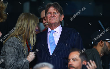 Reading owner John Madejski during the Sky Bet Championship Play-off semi-final first leg match between Fulham and Reading played at Craven Cottage, London on 13th May 2017
