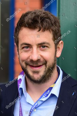 Player yesterday, Greg Laidlaw is a spectator today for the European Rugby Champions Cup match between ASM Clermont Auvergne and Saracens at Murrayfield, Edinburgh