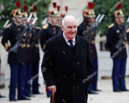Stock Photo of Actor Michel Bouquet arrives at the Elysee Palace in Paris