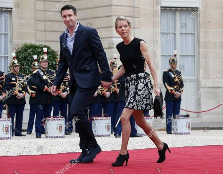 Tiphaine Auziere, daughter of Brigitte Trogneux, arrives for the inauguration ceremony of incoming French President Emmanuel Macron at Elysee palace in Paris, France