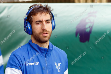 Mathieu Flamini of Crystal Palace arrives before the Premier League match between Crystal Palace and Hull City played at Selhurst Park Stadium, London on 14th May 2017