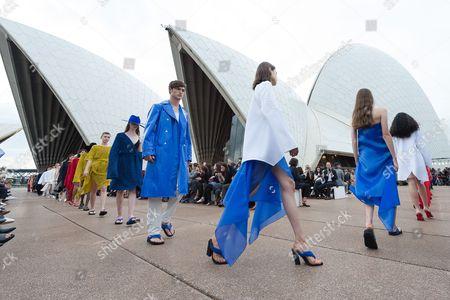 Editorial photo of Dion Lee - Runway - Mercedes-Benz Fashion Week Australia, Sydney - 14 May 2017