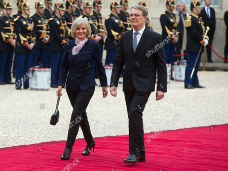 Elisabeth Guigou at the presidential Elysee Palace for Emmanuel Macron 's presidential inauguration as the 8th president of the 5th Republic
