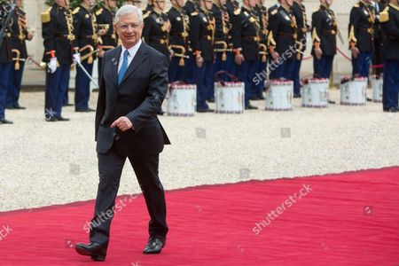 Claude Bartolone at the presidential Elysee Palace for Emmanuel Macron 's presidential inauguration as the 8th president of the 5th Republic