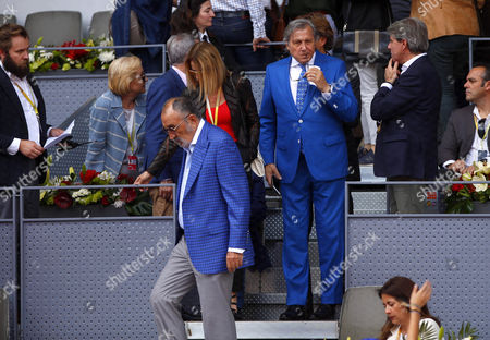 Ilie Nastase of Romania controversially takes his seat court side at the Mutua Madrid Open, Madrid, Spain on Sunday, May 14th, 2017