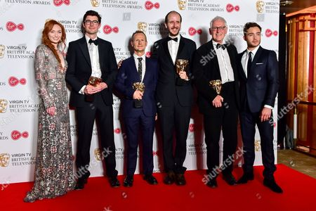 Mini-Series  -  Winner National Treasure Presented by Eleanor Tomlinson and Ed Westwick with George Ormond, Marc Munden, Jack Thorne and John Chapman
