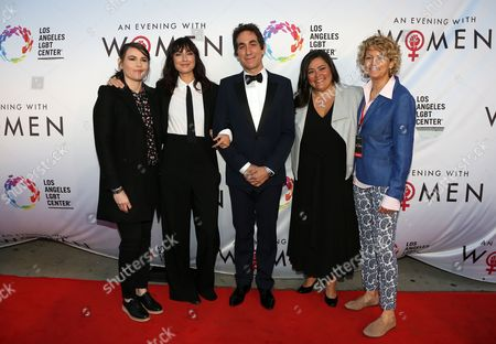 Stock Image of Clea DuVall, Mia Weier, Brent Bolthouse, Annie Goto, Kelly Lynch