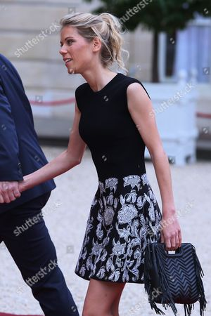 Tiphaine Auziere, daughter of Brigitte Trogneux, Hollande welcomes new President of France, Emmanuel Macron at Elysee Palace
