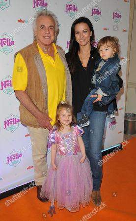 Peter Stringfellow, Bella Stringfellow and children Rosabella Stringfellow, Angelo Stringfellow