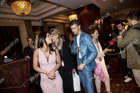 Stock Picture of Robin Bengtsson with girlfriend Jennie Salte