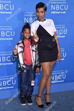 Stock Picture of Jennifer Hudson with her son David Daniel Otunga Jr