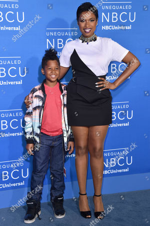 Stock Image of Jennifer Hudson with her son David Daniel Otunga Jr