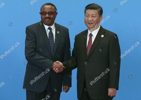 Xi Jinping and Hailemariam Desalegn