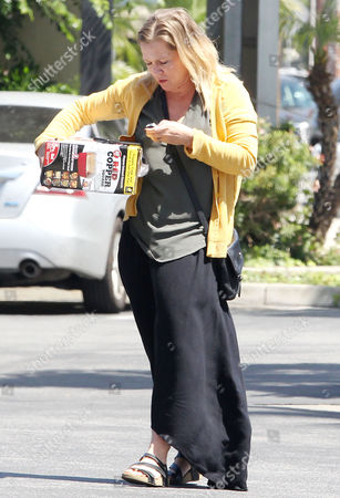 Editorial photo of Jenny Garth out and about, Los Angeles, USA - 12 May 2017