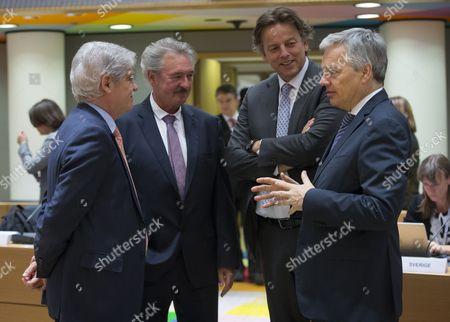 Bert Koenders, Jean Asselborn, Charles Flanagan and Didier Reynders