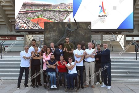 Editorial image of IOC Evaluation Commission visit Paris, Saint Denis, France - 15 May 2017