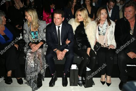 Stock Image of Karl Stefanovic, Jasmine Yarbrough and Richard Wilkins in the front row