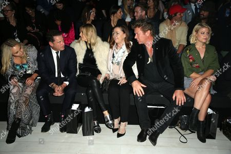 Stock Picture of Karl Stefanovic, Jasmine Yarbrough and Richard Wilkins in the front row