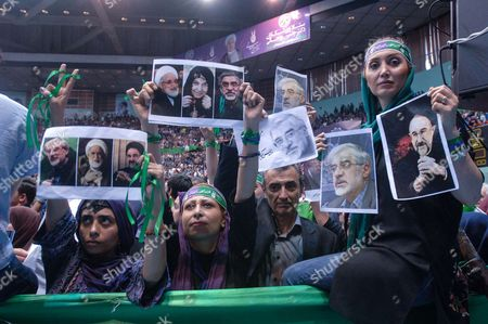 Editorial image of Hassan Rouhani presidential campaigning, Tehran, Iran - 13 May 2017