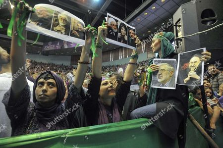 Editorial picture of Hassan Rouhani presidential campaigning, Tehran, Iran - 13 May 2017