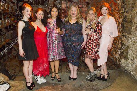 Stock Photo of Kirsty MacLaren (Manda), Isis Hainsworth (Orla), Frances Mayli McCann (Kylah), Caroline Deyga (Chell), Dawn Sievewright (Fionnula) and Karen Fishwick (Kay)