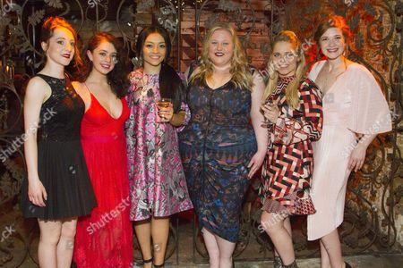 Stock Picture of Kirsty MacLaren (Manda), Isis Hainsworth (Orla), Frances Mayli McCann (Kylah), Caroline Deyga (Chell), Dawn Sievewright (Fionnula) and Karen Fishwick (Kay)
