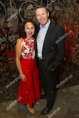 Stock Picture of Samantha Spiro and Mark Leadbetter