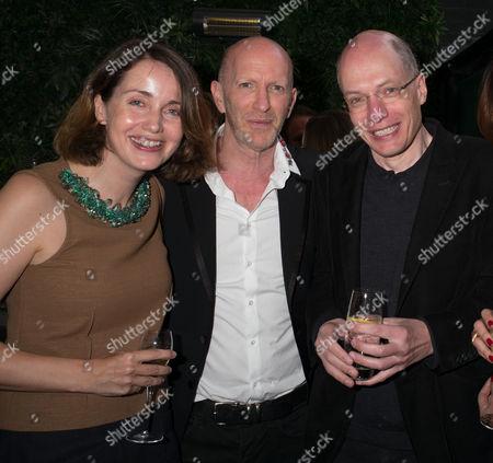 Stock Photo of Simon Sebag-Montefiore, Alain de Botton, Charlotte de Botton