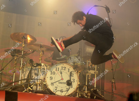 Guitarist Jaime Preciado of the band Pierce The Veil performs during the Northern Invasion Music Festival in Somerset, Wisconsin