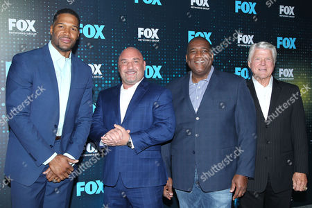 Michael Strahan, Jay Glazer, Curt Menefee and Jimmy Johnson