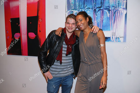 Stock Photo of Tobias Schenke and Annabelle Mandeng