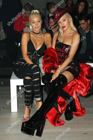 Krystal Dawson and Imogen Anthony in the front row