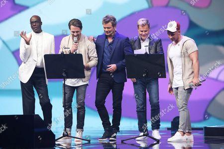 Bruce Darnell, Alexander Klaws, Oliver Geissen, Dieter Bohlen, Pietro Lombardi