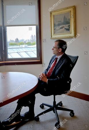 Metropolitan Museum of Art president Dan Weiss listens during an interview, in New York