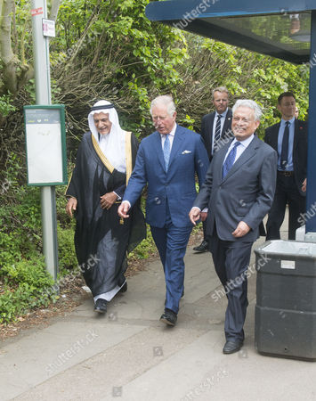 Prince Turki Bin Faisal Al Saud, Dr Farhan Nizami and Prince Charles