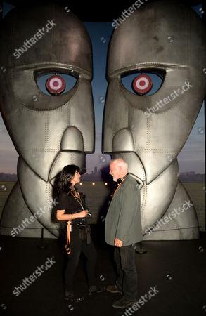 Polly Samson, David Gilmour and sculpture