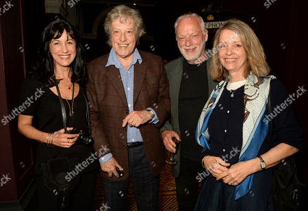 Polly Samson, Tom Stoppard, David Gilmour and Sabrina Guinness