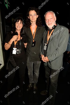 Polly Samson, Charlie Gilmour and David Gilmour