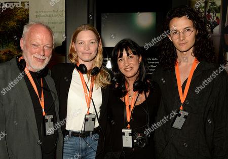 David Gilmour, Sara Gilmour, Polly Samson and Charlie Gilmour