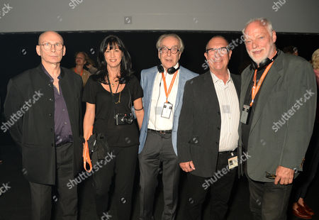 Stock Image of Paul Loasby, Polly Samson, Gerald Scarfe, Aubrey Powell and David Gilmour