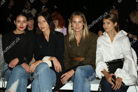 Stock Picture of Sara Donaldson, Kaitlyn Ham, Brooke Testoni and Talisa Sutton sit front row