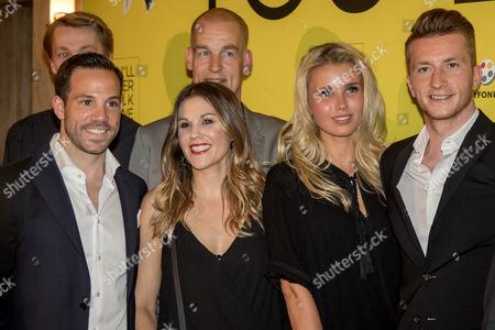 Gonzalo Castro (BVB), Marco Reus (BVB), Scarlett Gartmann