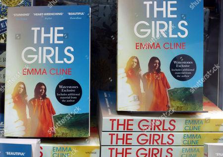 The Girls bestselling novel by Emma Cline in London bookshop window