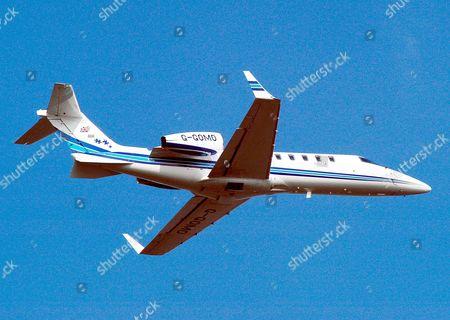 Gold Air International Lear Jet 45  ( REG G-GOMO ) executive business jet based at Biggin Hill , Kent owned by West Ham owner David Gold