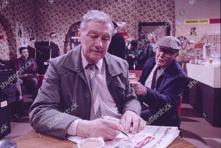 Stock Photo of Tom Mennard (as Sam Tindall) and Bill Waddington (as Percy Sugden)